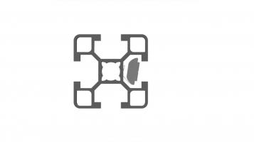 Porca M8 L com mola de fixação aço zincado [MINITEC]