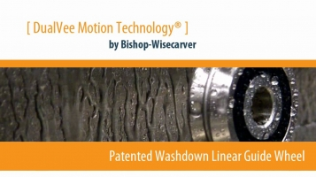 DualVee® Washdown Linear Guide Wheel: Animation
