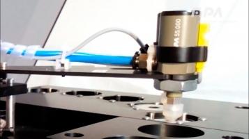 Cilindros de elevação e ventosas para sistema de teste de discos codificados [FIPA]