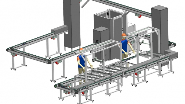 Digital twin for conveyor systems