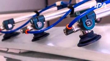 Ventosas FIPA para manipulação de chapas metálicas