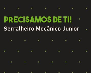 Recrutamento - Serralheiro Mecânico Júnior