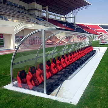 Sports Shelters in aluminum profile