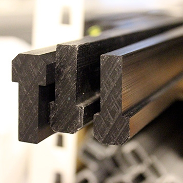 Edge, cover, slide and sealing profiles