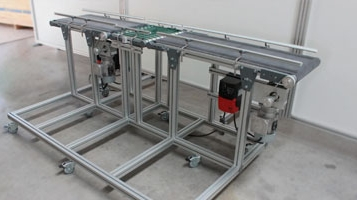 Belt conveyor and thermo-welded cords [FLUIDOTRONICA]
