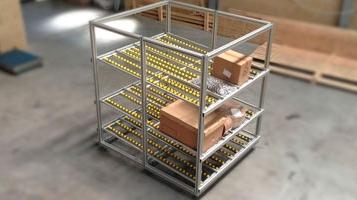Rack dinâmico com perfil de alumínio MiniTec [FLUIDOTRONICA]