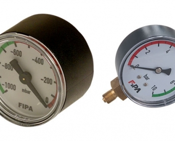 Visually monitor vacuum circuits with FIPA Vacuum meters
