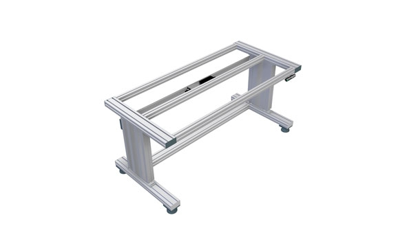 Electrically height-adjustable table