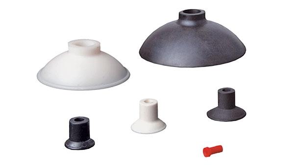 Flat vacuum cups with curved lip - SFU-D