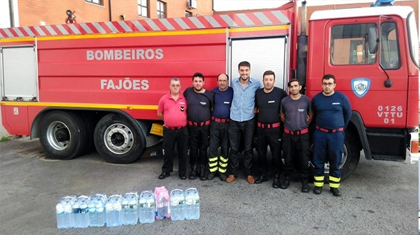 2016 - Collection of water bottles for firefighters organized by Fluidotronica employees