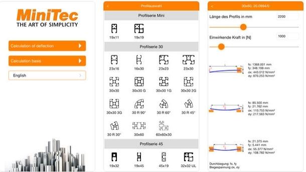 MiniTec Deflection App