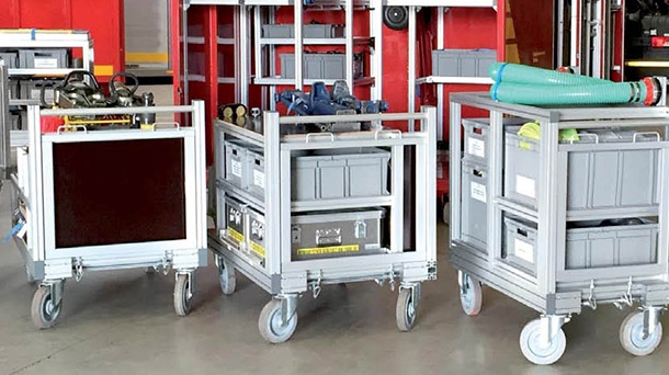 Mobile container racks: basic modules
