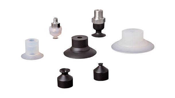 Flat vacuum cups with a flexible lip - SFU-F
