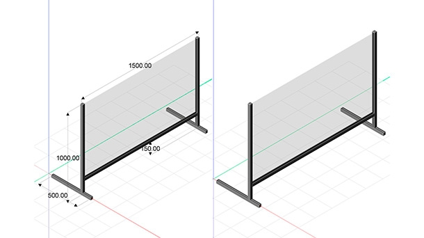 Balcony Protection 1500 x 1000 mm
