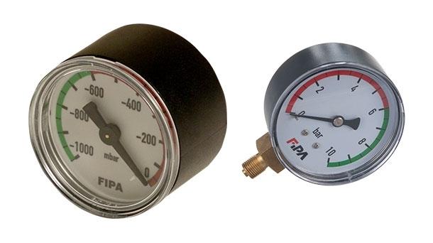 Vácuo e manómetro
