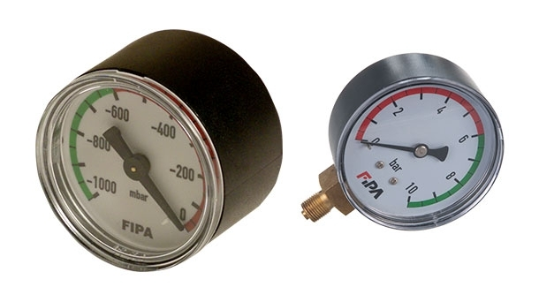 Vacuum and pressure gauge