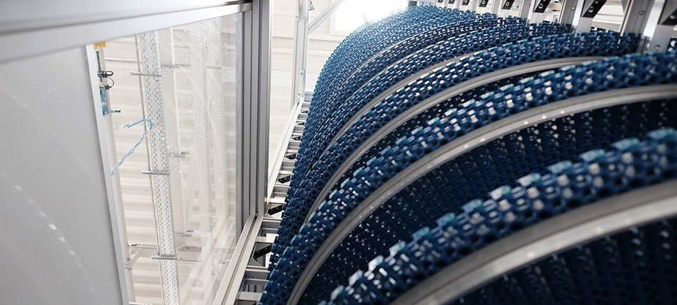 Spiral conveyor to optimize material flow